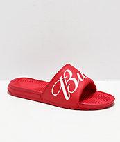 HUF x Budweiser sandalias rojas
