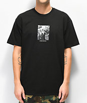 HUF x Real Crowd camiseta negra