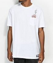 HUF x South Park Dead Kenny camiseta blanca con bolsillo