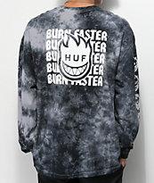 HUF x Spitfire Burn Faster camiseta negra de manga larga