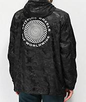 HUF x Spitfire chaqueta anorak negra