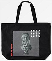 Halsey Statue Black Tote Bag