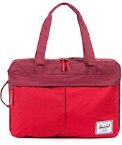 Herschel Supply Bowen Red & Burgundy Travel Duffle Bag