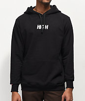 High Company Logo Black & White Hoodie