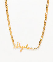 Illegal Civilization IC Cursive Gold Chain Necklace