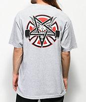 Independent x Thrasher Pentagram Grey T-Shirt