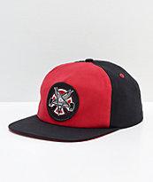 Independent x Thrasher Pentagram Red & Black Snapback Hat