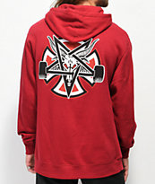 Independent x Thrasher Pentagram Red Hoodie