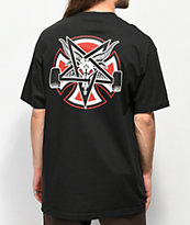 Independent x Thrasher Pentagram camiseta negra
