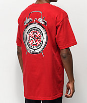 Independent x Thrasher Time To Go Red T-Shirt