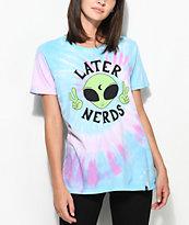 JV by Jac Vanek Later Nerds camiseta con efecto tie dye