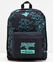 JanSport x Mark Gonzales The Gonz FX mochila negra y verde