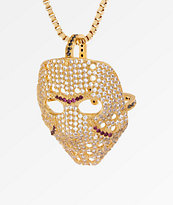 King Ice Hockey Mask Gold Necklace