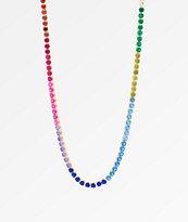 "King Ice Single Row 20"" Rainbow Gold Chain Necklace"