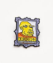 Krooked Frame Face Enamel Pin