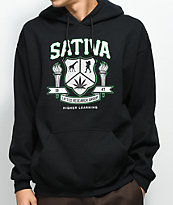 LRG Sativa High sudadera negra con capucha