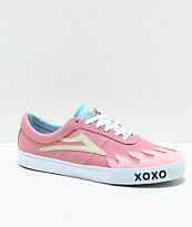 Lakai x Leon Karssen Sheffield Pink & White Skate Shoes