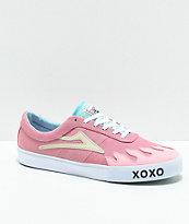 Lakai x Leon Karssen Sheffield zapatos de skate en rosa y blanco