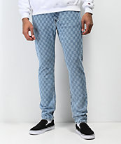 Levi's 512 Checkered Light Blue Slim Jeans