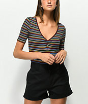 Lunachix Jessica Ribbed Stripe Top
