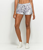 Lunachix Lavender Crushed Velvet Shorts