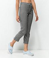 Lunachix pantalones capri de vichy en negro y blanco