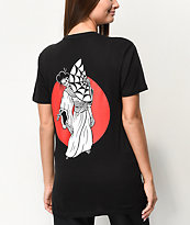 Lurking Class By Sketchy Tank Geisha Boyfriend Fit Black T-Shirt