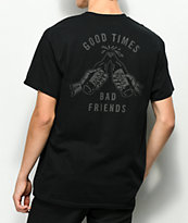Lurking Class By Sketchy Tank Good Times camiseta negra reflectante