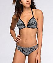 Malibu Alien Aztec Black & White Hipster Bikini Bottom