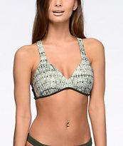 Malibu Gypsy Queen top de bikini moldeado en verde olivo