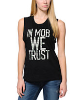 Married To The Mob Trust Money Black Muscle T-Shirt