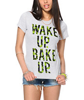 Married To The Mob Wake Up Weed Fill T-Shirt