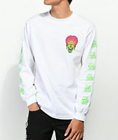 Mars Attacks x Santa Cruz Face White Long Sleeve T-Shirt