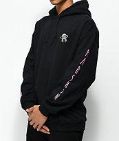 Marshin Vertical sudadera negra con capucha