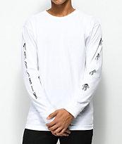 Marshin Vertically Type White Long Sleeve T-Shirt