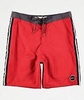 Matix Platoon shorts de baño de color ladrillo