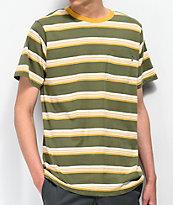Matix Sets Sage & Yellow Striped T-Shirt