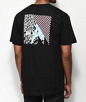 Meridian Skateboards Leg Check camiseta negra