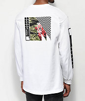 Meridian Skateboards Rose Camo White Long Sleeve T-shirt