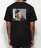 Meridian Skateboards Rose Camo camiseta negra