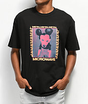 Metal In The Microwave Doggey Black T-Shirt