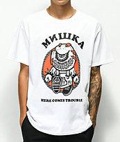 Mishka Trouble camiseta blanca