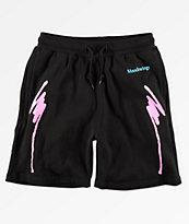 Moodswings Nacho Cheese Black Sweat Shorts