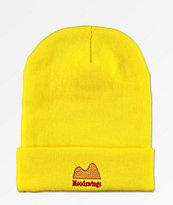 Moodswings Ups & Downs Yellow Foldover Beanie