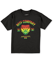 Neff Boys Rasta Lion Black Tee Shirt