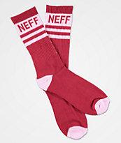 Neff Promo Sangria Violet Crew Socks