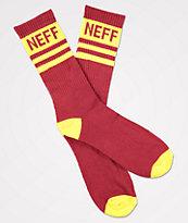 Neff Promo Sangria calcetines en rojo y amarillo