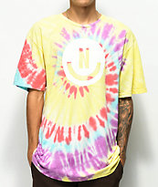 Neff Smile Face camiseta amarilla con efecto tie dye