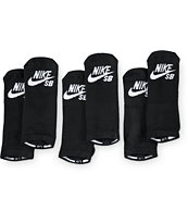Nike SB Black 3 Pack No Show Socks