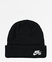 Nike SB Fisherman Black Beanie